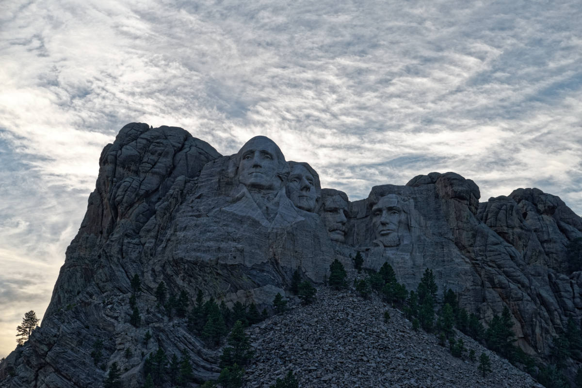 Mt Rushmore from the far side along the 244